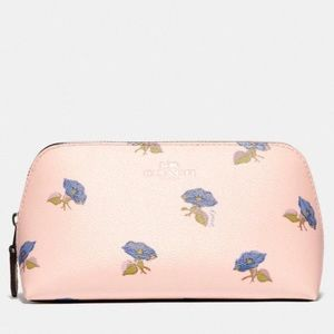 Coach Cosmetic Case 17 With Bell Flower Print